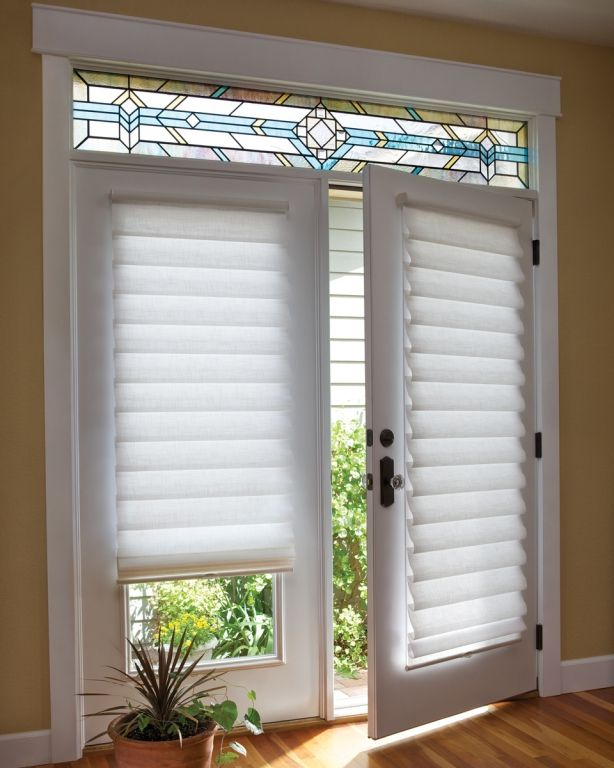 Cute View in gallery french doors covering tierd shades window treatments for french doors in bedroom