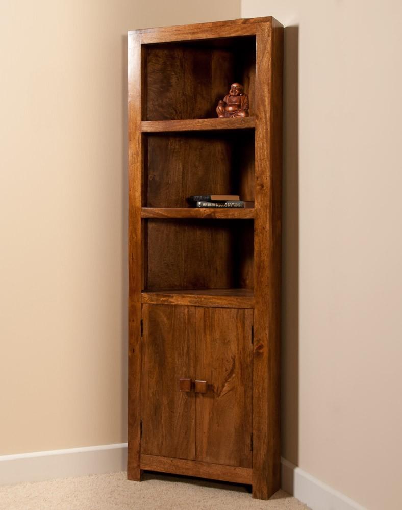 Chic Chunky Bookcase Unfinished Wood Corner wood corner bookcase
