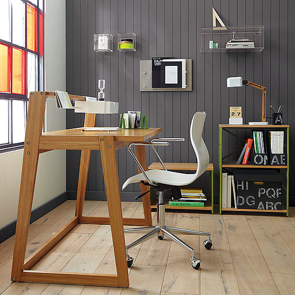 Compact View in gallery modern wooden home office desk 20 Stylish Home Office wood desks for home office