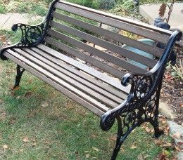 Amazing DIY - How to Restore a Cast Iron and Wood Garden Bench. wrought iron benches outdoor