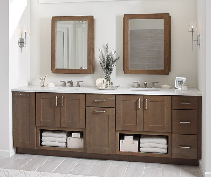 ... breman shaker style bathroom cabinets in cherry morel ... ROIHATX