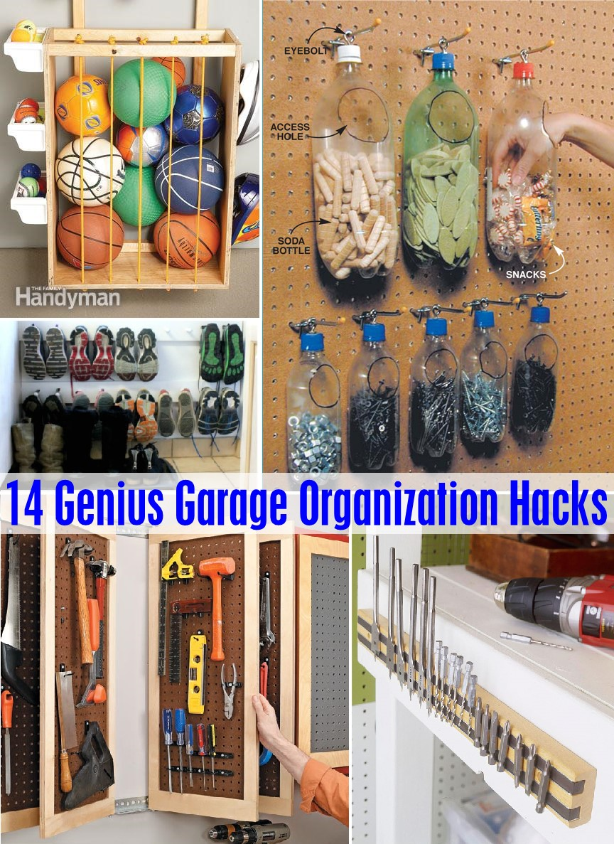 14 genius garage organization hacks - the scrap shoppe RPEMFYC
