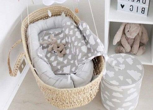 2 ♥ padded moses basket ABQOIWU