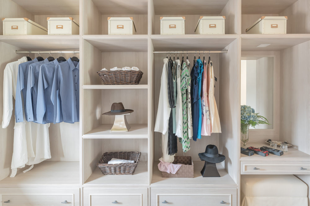 30 custom reach-in closet storage system designs JJBCGAG