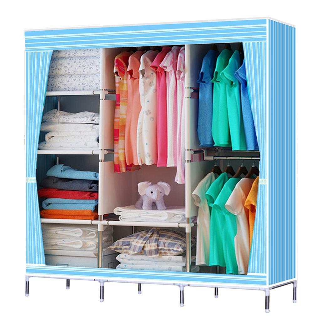 49u201d portable closet storage organizer wardrobe clothes rack with shelves GEFWJZH