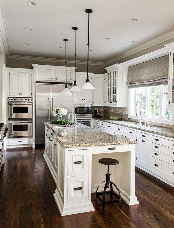 65 extraordinary traditional style kitchen designs- love the white cabinets DTPERNR