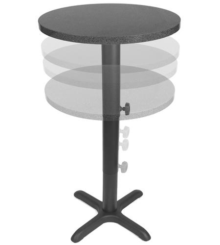 adjustable height restaurant table bases LHOSABS