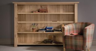 alderman low oak bookcase ZZOQTMQ