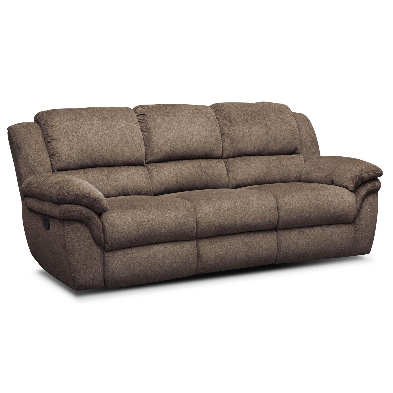 aldo manual reclining sofa - mocha UYGVAZY