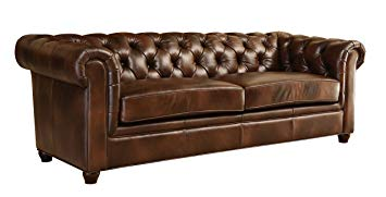 amazon.com: abbyson® foyer premium italian leather sofa: kitchen u0026 dining UKYKSRO
