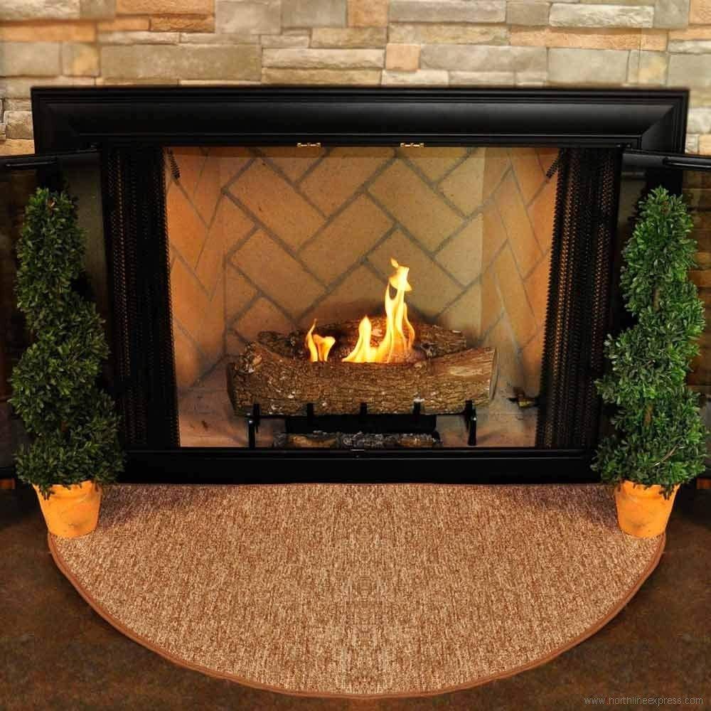 amazon.com: celebration 4u0027 half round fireplace hearth rug: kitchen u0026 dining OEHJFQA