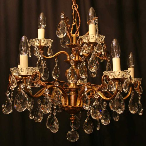 antique chandeliers italian gilded 8 light antique chandelier ... ACITOLO