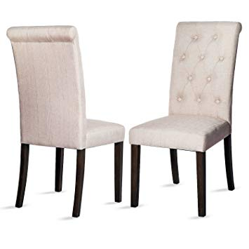armless chairs merax button-tufted upholstered accent dining chair modern elegant armless  chairs, YNTPMAG