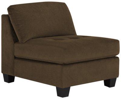 armless chairs mercer2 dark brown microfiber armless chair QAXGZNB