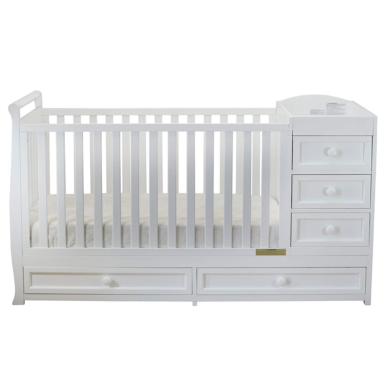 baby cribs amazon.com : athena daphne convertible crib and changer, white : baby IPARQDO