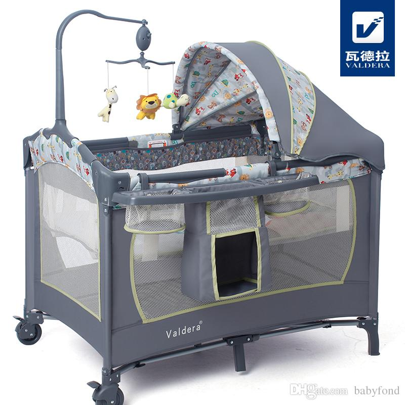 baby cribs hot sell baby crib valdera multifunctional folding bed fashion and portable WWUNBPO