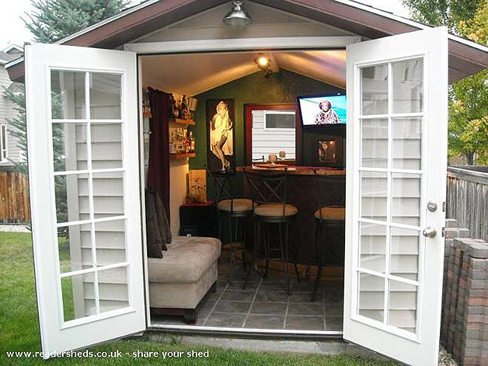 backyard sheds who can resist a superbowl party with this shed? KMQVNFP