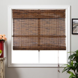 bamboo shades arlo blinds java vintage bamboo roman shade with 74 inch height HESTLAU