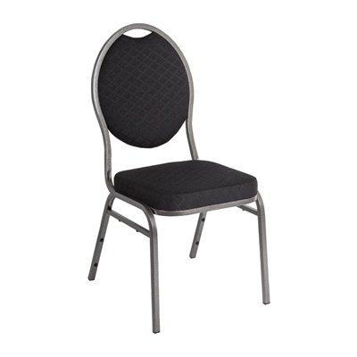 banquet chairs bolero steel banqueting chair oval back with black plain cloth (pack TDIDLKR