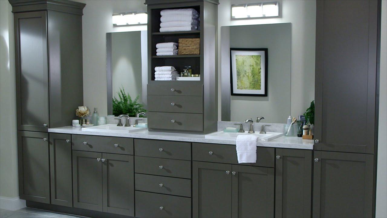bath cabinets custom bath cabinetry - martha stewart - youtube MJAVEAQ