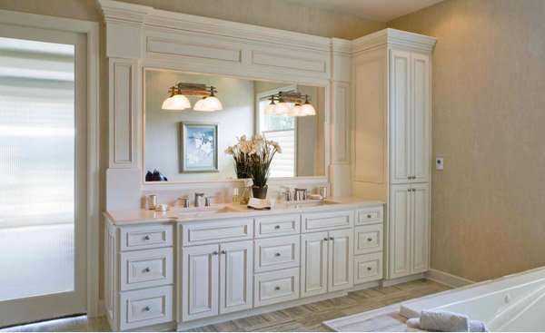 Bathroom Cabinets to accommodate the linen