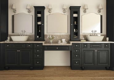 bathroom cabinets pre-assembled bathroom vanities u0026 cabinets IKHWBHS