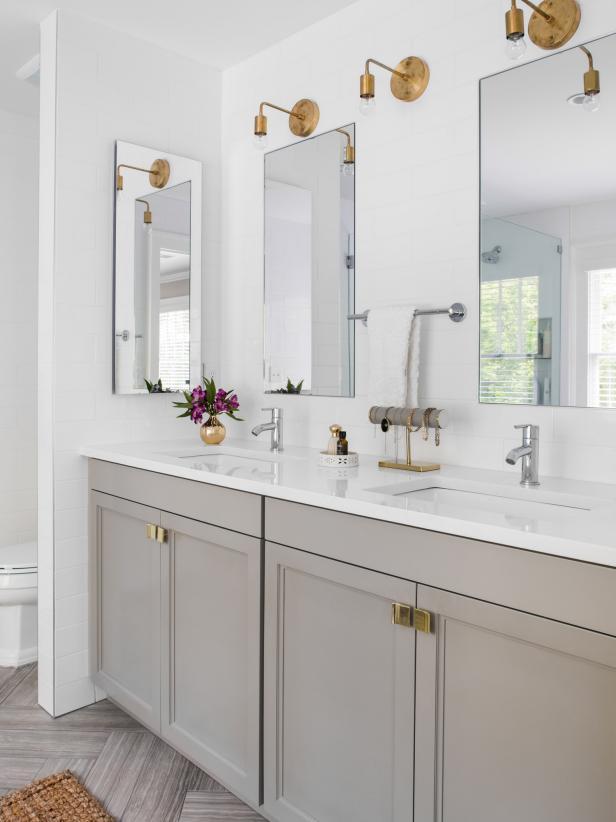 bathroom countertops cheap ways to freshen up your bathroom countertop | hgtv APSVJIC