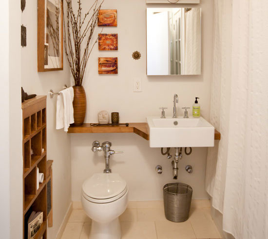 bathroom decorating ideas be clever with shelving   tutorial here QERKMPJ