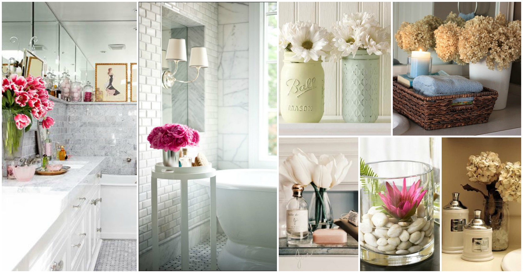 bathroom decorating ideas relaxing flowers bathroom decor ideas that will refresh your bathroom LXVBXDF
