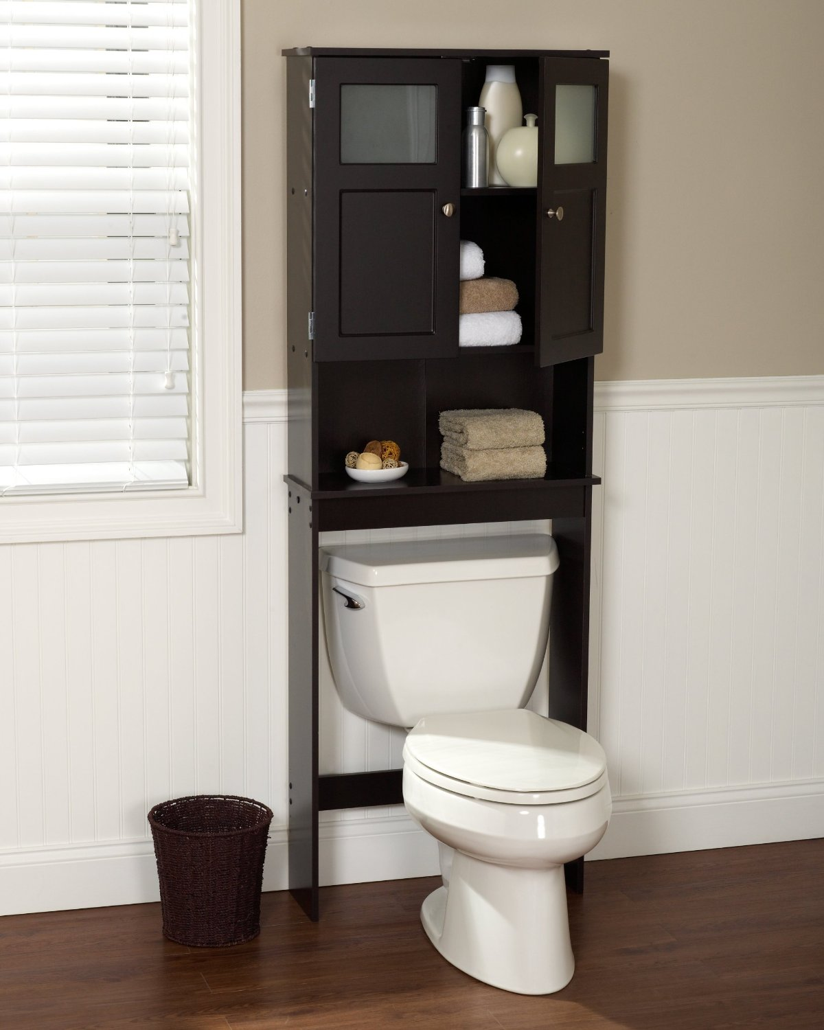 bathroom etageres the best over the toilet storage options 2017 | toiletops.com TRDNGFC