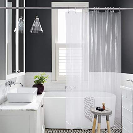 bathroom shower curtains amazer shower curtain liner, 72 x 72 clear eva 8g mildew ZNEVRPF