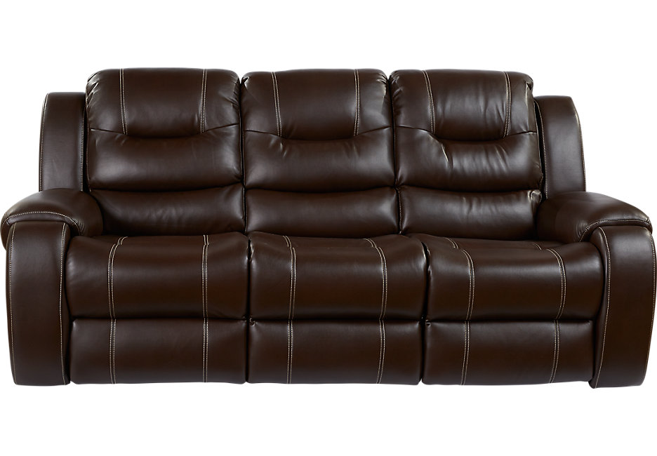 baycliffe brown reclining sofa - sofas (brown) LHKKCAL