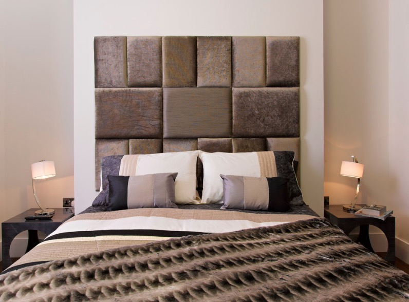 bed headboards ideas fabric mosaic headboard IVQJSDJ