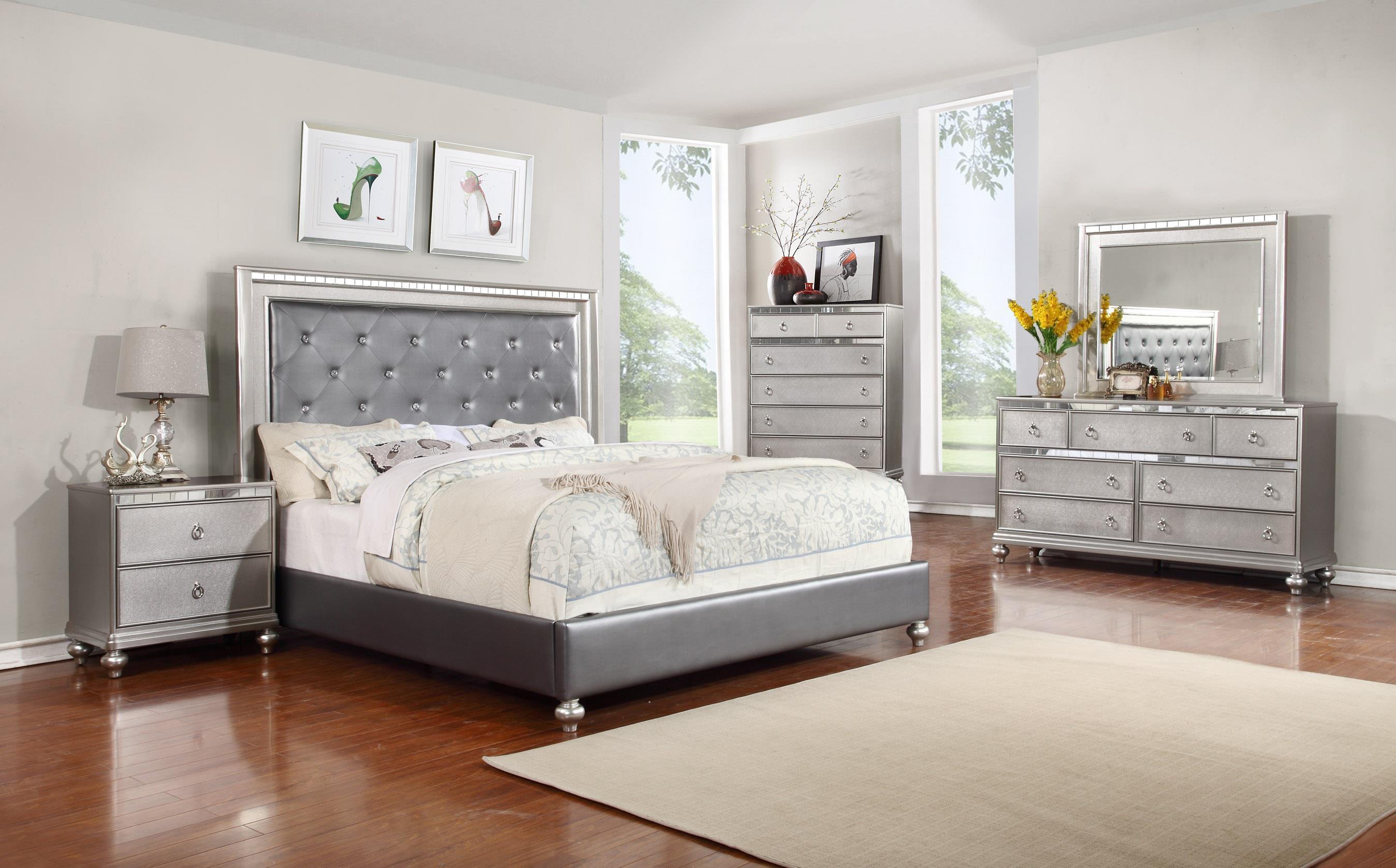 bedroom sets lifestyle glam 5pc queen bedroom set - item number: 4183 q QGLJIOE
