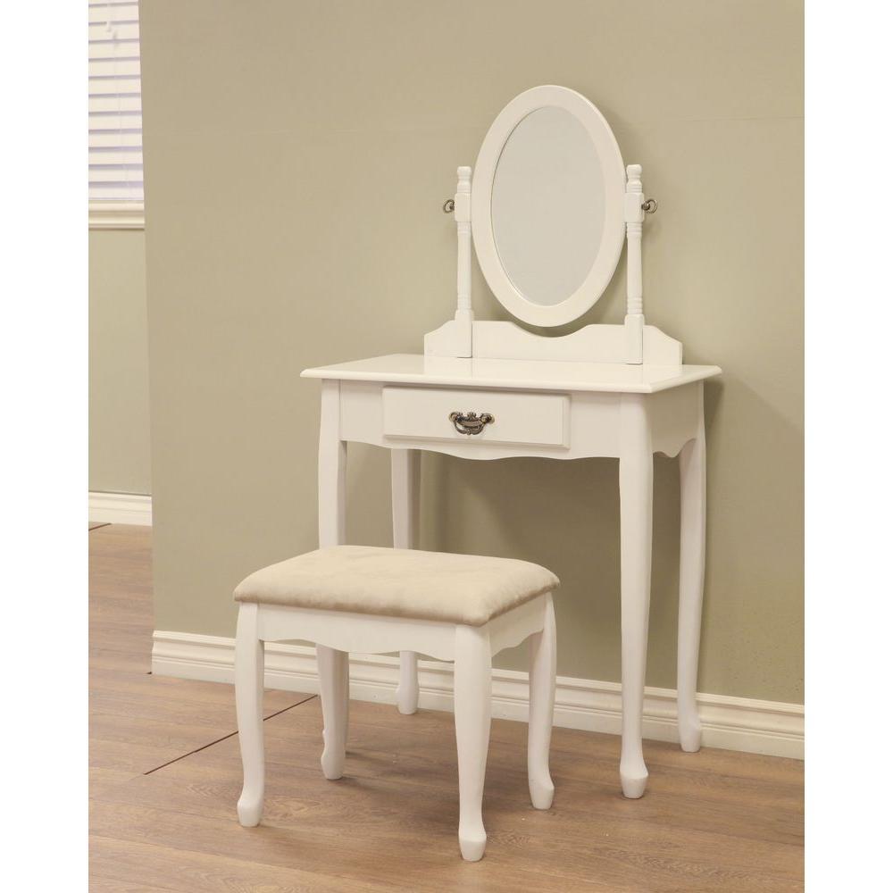 bedroom vanity 3-piece white vanity set NIEFSVU