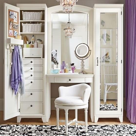 bedroom vanity with storage ZNAQXBF