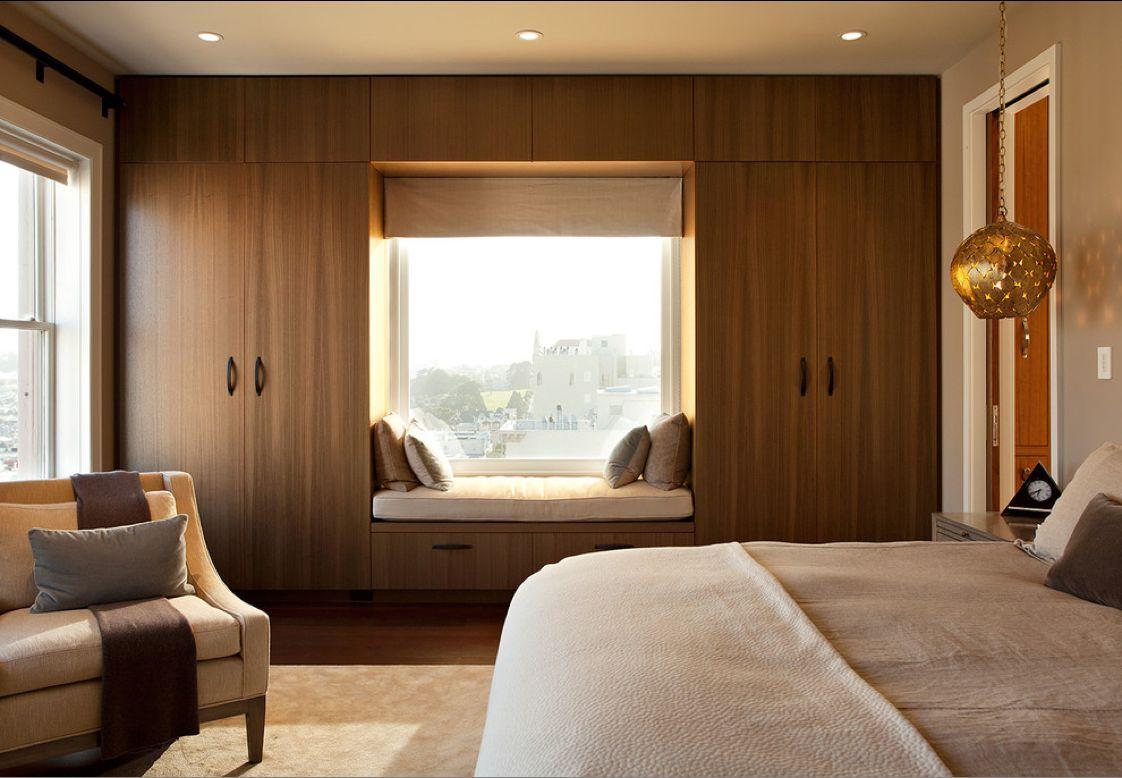 bedroom wardrobes ideas build around the window. FWNBEFW