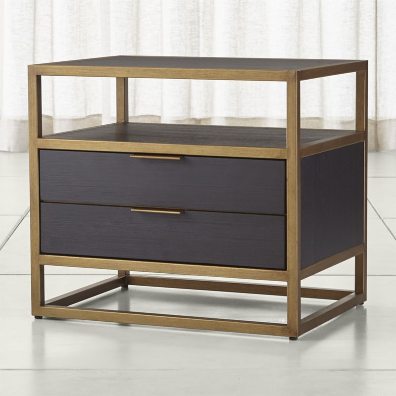 bedside tables oxford black 2-drawer nightstand LVYZQIU