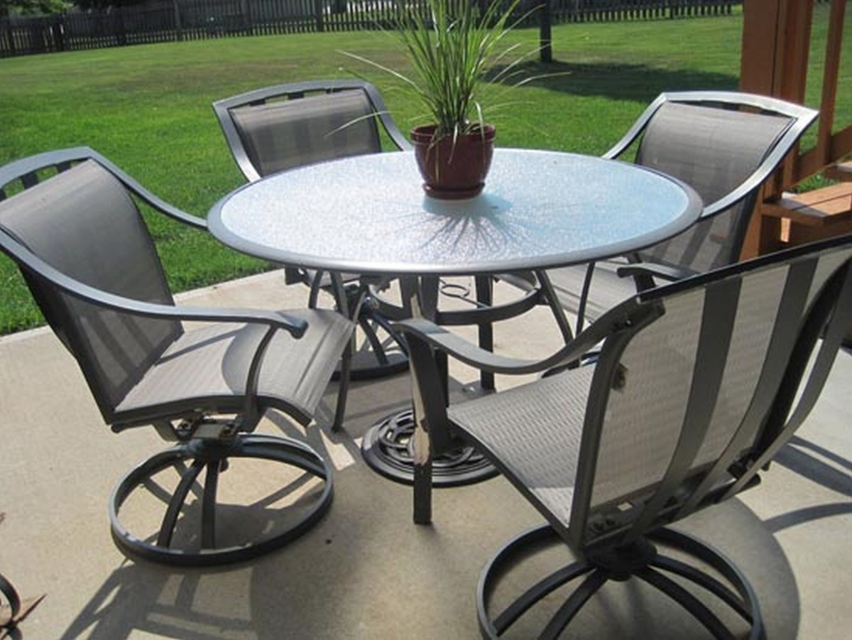 best round patio table and chairs furniture black wrought iron patio RRTPEXV