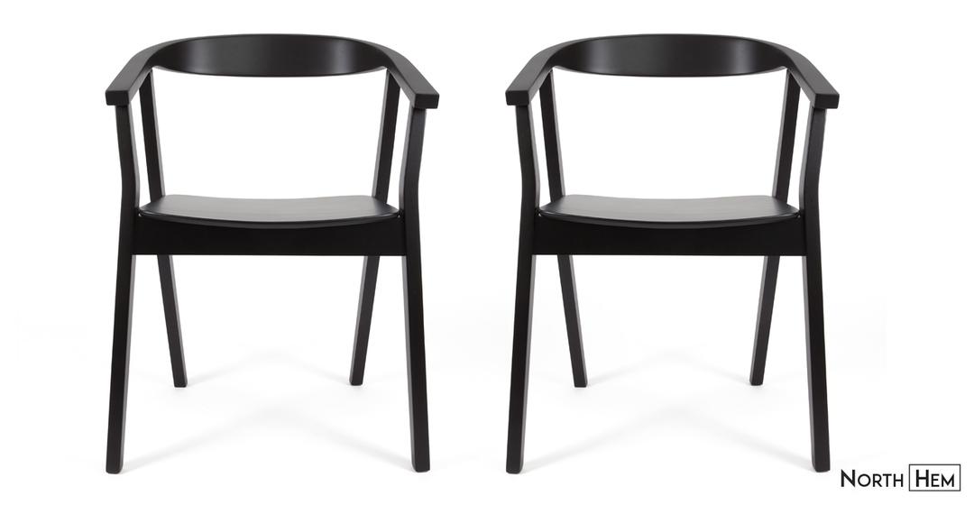 black dining chairs greta dining chair | matte black SFESNMF