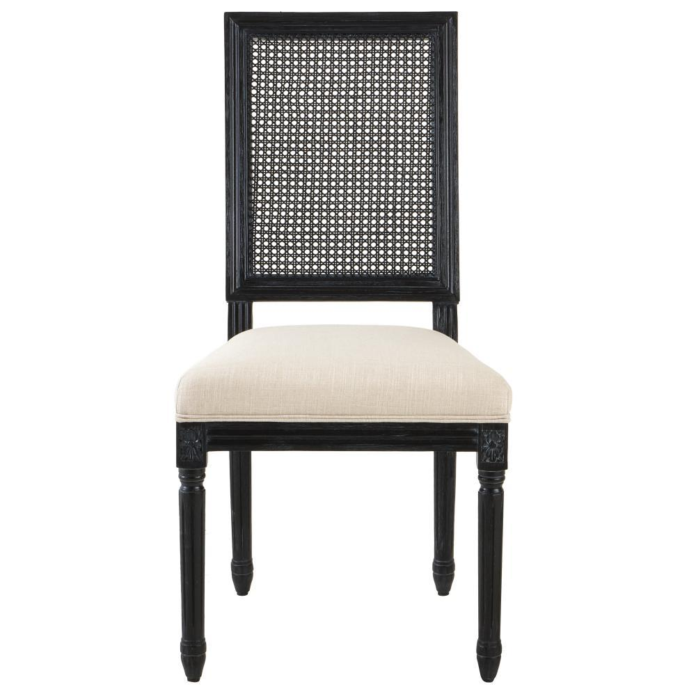 black dining chairs home decorators collection jacques cane antique black square back dining NWXNHWL