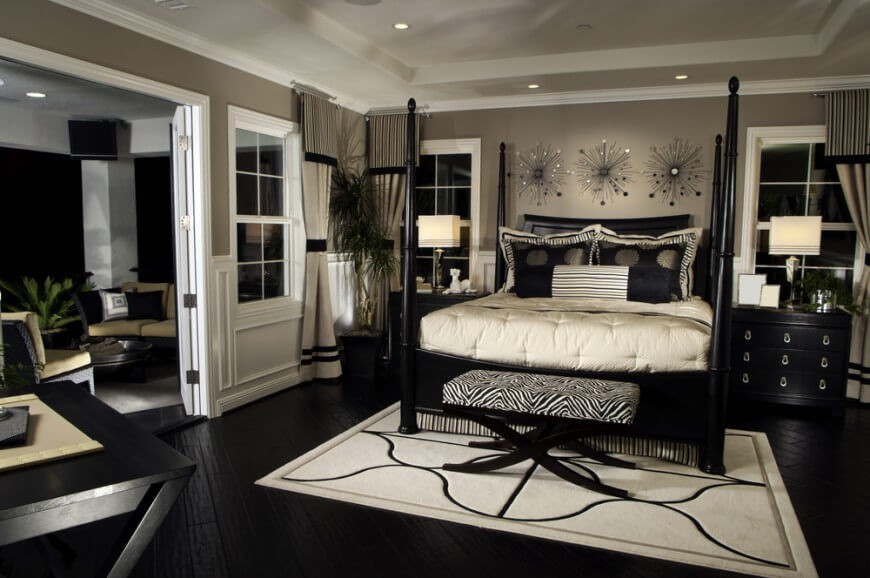 Try out something different like black furniture for your indoors