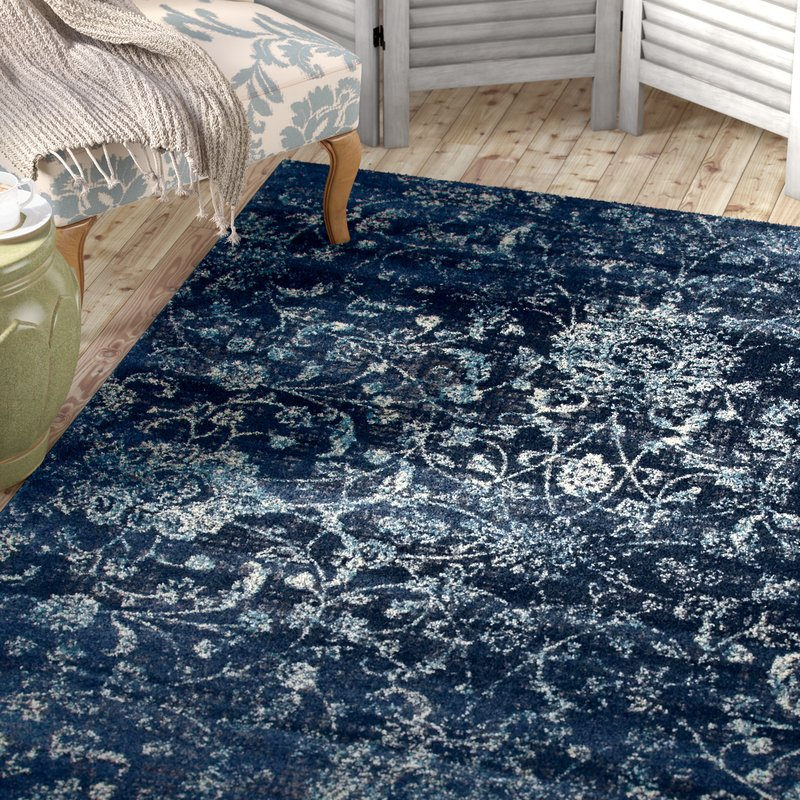 blue area rugs devay floral steel blue area rug JNBPGFP