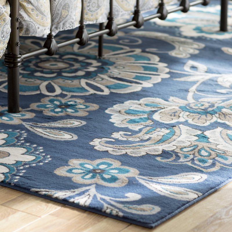 Décor with Blue area rugs