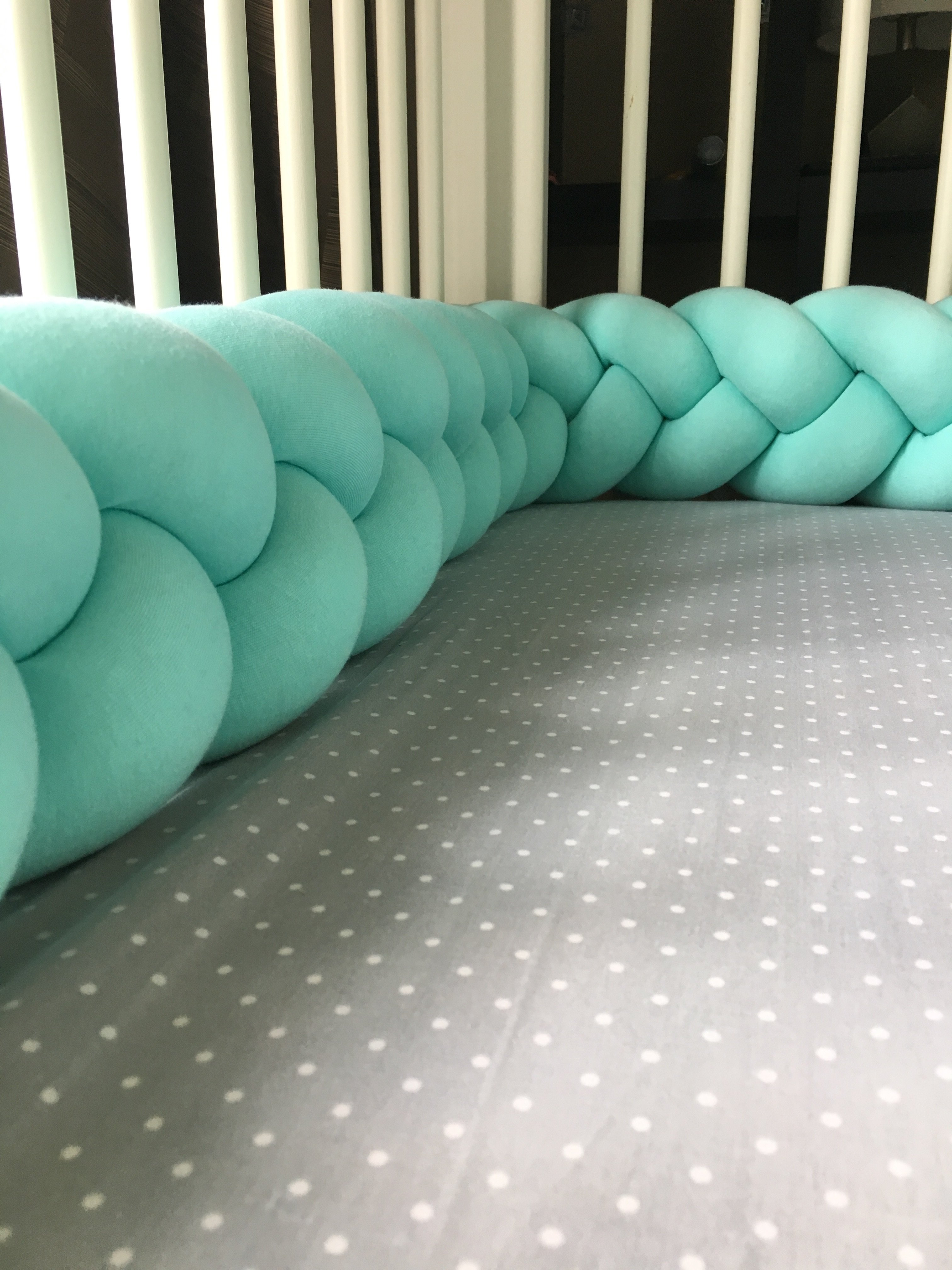 braided crib bumper/bed bolsters - see more knot pillows u0026 cushions VEOAWKD