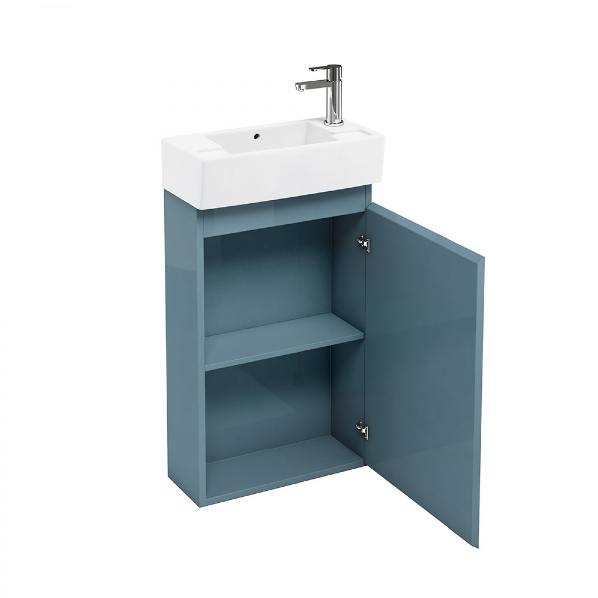 britton bathrooms compact 25cm depth floor mounted cloakroom vanity unit YPLKGFA
