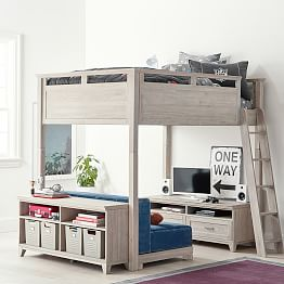 bunk beds with desk ... decorating breathtaking bunk bed with desk 11 hampton convertible loft TUQBGSX