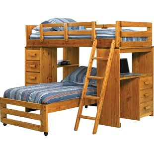bunk beds with desk twin l-shaped bunk bed YZZVTUW