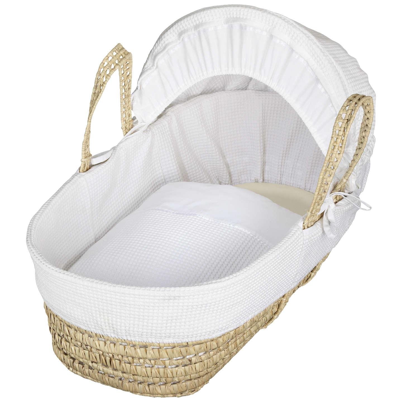 buyjohn lewis waffle moses basket, white online at johnlewis.com ... DEOQABR