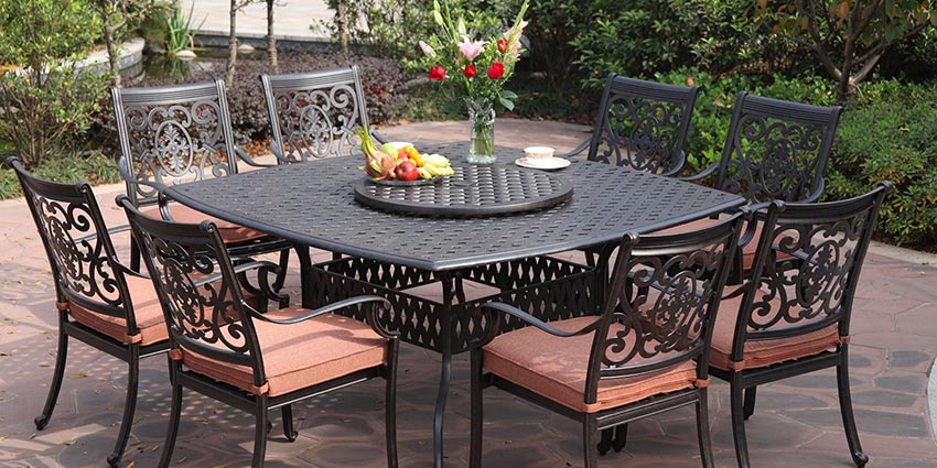 cast aluminium garden furniture cast aluminum patio furniture set ISPPWIH